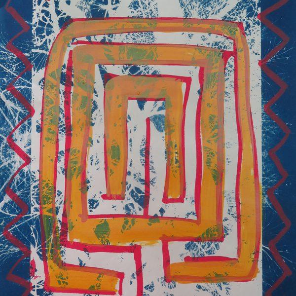Maze 7 Mixed Media