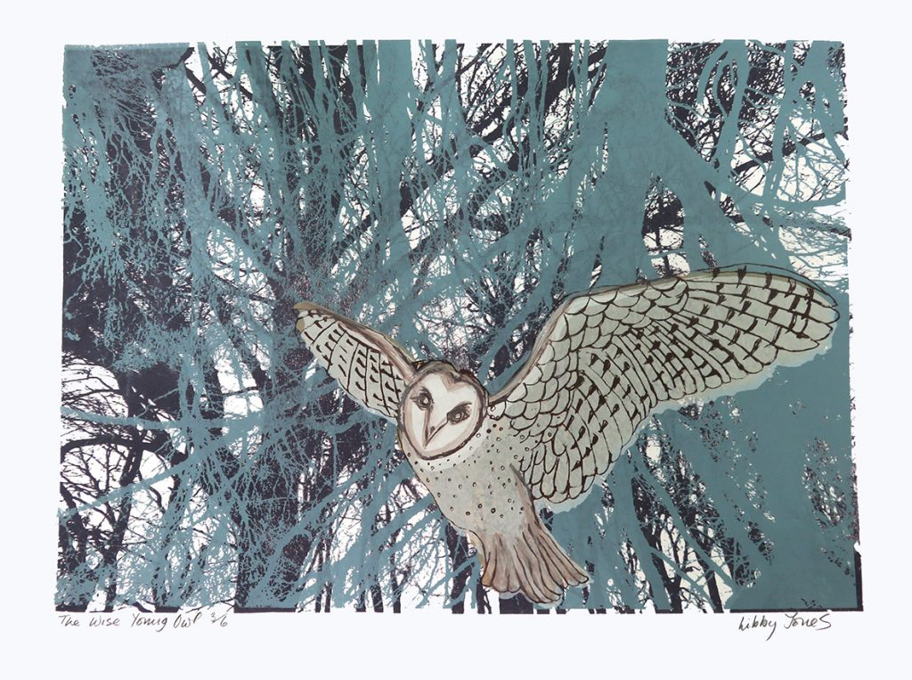 Screenprint The Wise Young Owl