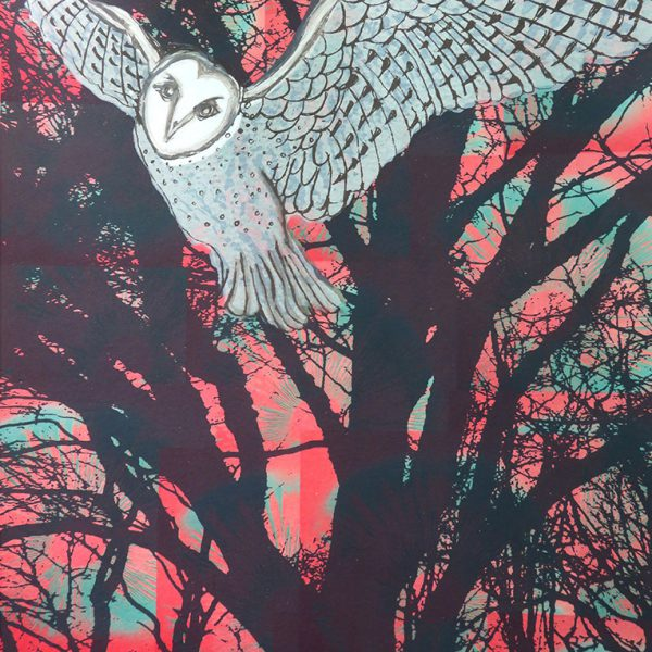 Screenprint Wise Young Owl