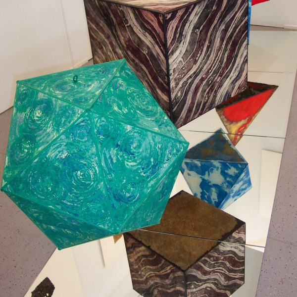 Platonic Solids Installation 3D Etchings